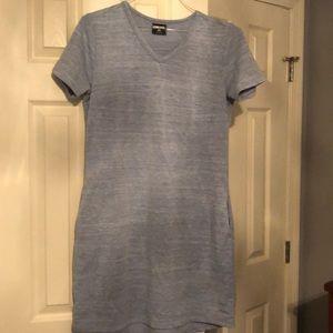 V neck tee shirt dress